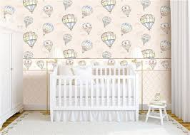 heat insulation kids bedroom wallpaper for wall decoration hot air balloon pattern