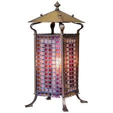 parisian table lamps antique parisian art nouveau stained glass table lamp for indoor entrance table