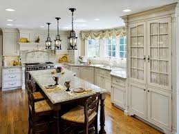 Modern Country Kitchen Decor Modern French Country Kitchen Decor Black Barstools Wood Log