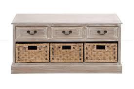 Wicker Basket Cabinet Updated Traditional 3 Wicker Basket Wood Low Cabinet In Distressed