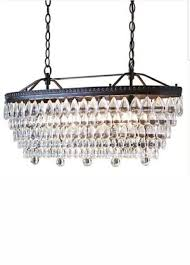 allen roth eberline 11 81 in 4 light oil rubbed bronze crystal tiered