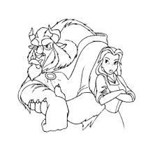 Belle En Het Beest Kleurplaten Leuk Voor Kids