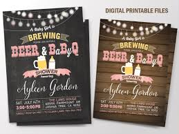 Baby is Brewing, Baby Brewing, BabyQ Baby Shower, BBQ Baby Shower  Invitation,