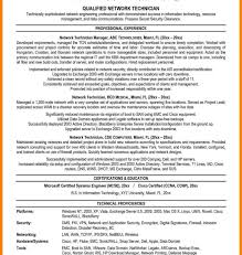 Telecom Resume Examples Resume Template Network Support Technician Sample Cable Samples 60