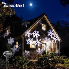 12 types 8w led snowflake effect lights outdoor light projector garden xmas tree decoration landscape