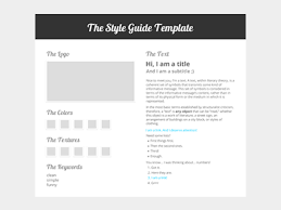 Style Templates The Style Guide Template Style Guides Templates Style