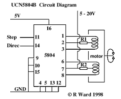 6 wire stepper motor controller circuit images unipolar stepper motor controller electronic circuit diagram