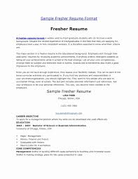 Career Objective For Resume For Fresher In Computer Science Lovely