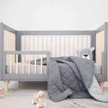 Mister Fly Charcoal Grey Reversible Cot Quilt - Babyroad & Mister Fly Charcoal Grey Reversible Cot Quilt Adamdwight.com