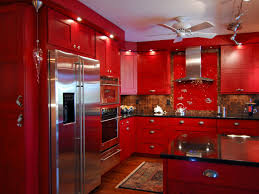 Red Kitchen Cupboard Doors Red High Gloss Kitchen Cabinet