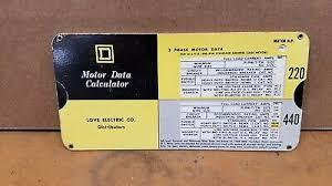 Motor Data Calculator Slide Chart Motor Data Slide Chart 10 57 Picclick