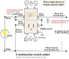 outlet wiring to switch wiring diagram schematics baudetails info how to wire combination switch outlet
