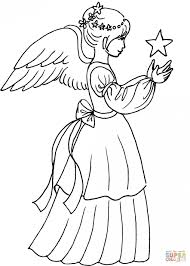 Small Picture Coloring Pages Angel Christmas Coloring Page Musicpictures Of