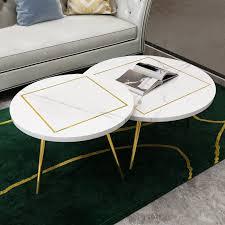 round coffee table white black mdf
