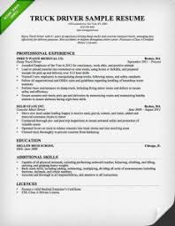 Driver Resume