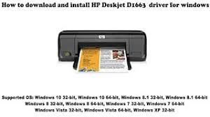 Hp 300xl deskjet d1600 ink cartridge black. How To Download And Install Hp Deskjet D1663 Driver Windows 10 8 1 8 7 Vista Xp Youtube