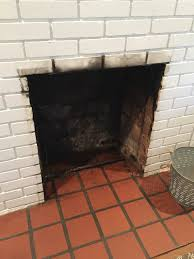 how to clean a fireplace firebox cleaning soot off brick thediybungalow com