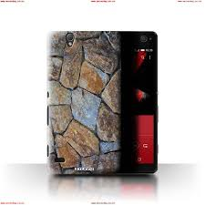 stuff4 case cover for sony xperia c4 small stone wall stone rock