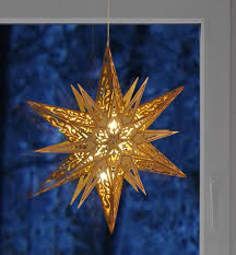 Weihnachtsstern Holz Adventsstern Leuchtstern Faltstern Fröbelstern Weihnachten
