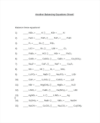 balancing chemical equations answers inspirational practice worksheet answer key problems with word answe