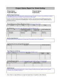 Status Report Sample Or Business Progress Pdf With Weekly