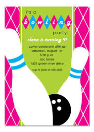 Bowling Party Invitations Pink Birthday Bowling Party Invitation Myexpression 26361