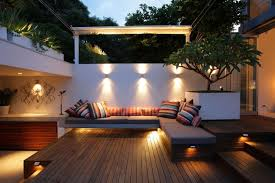 image outdoor lighting ideas patios. Decorative Patio Lighting Ideas With Wooden Deck For Modern Design Image Outdoor Patios