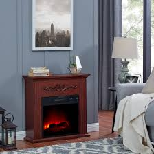 bold flame 28 inch electric fireplace heater chestnut