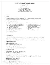 resume for front desk front desk coordinator sample resume podarki co