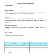 Industry Training Plan Template Word Document Framework Learning And ...