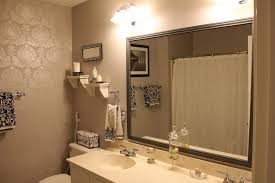 Framed Mirrors To Match Vanity Mueller Construction Brown Large
