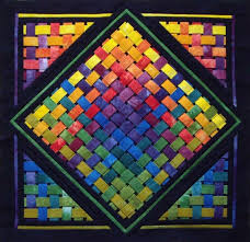 3d Quilt Patterns Stunning Woven Rainbow 48