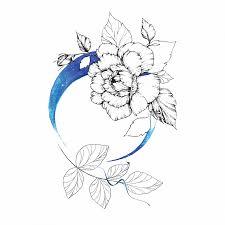 временная татуировка синие сны пиона код товара 496 550