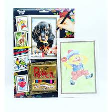 <b>Раскраска Danko Toys Pencil</b> by number карандашами по ...