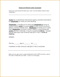Lovely Cease And Desist Letter Template Harassment Pictures Stalking