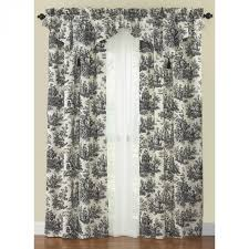 waverly country life toile curtain panel and ascot valance toile curtain panels