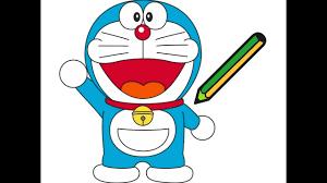 Hướng dẫn bé tập tô màu chú mèo Doremon - Vẽ và tô màu phim hoạt hình  Doraemon - YouTube