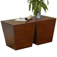 winsome  mesa storage cube end table in antique walnut