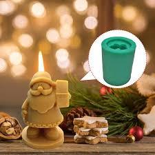 <b>Christmas</b> Santa Resin Mold 3D <b>Santa Claus Silicone</b> Mold Crystal ...