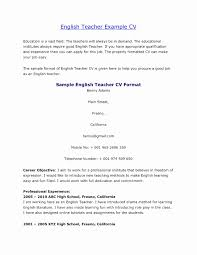 Tefl Resume Sample Cv Format For Teaching English Abroad And ...