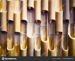 Bamboo Wall Design Images Home Decoration Concept Abstract Background Closeup View