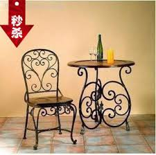 lounge tables and chairs. European Wrought Iron Tables And Chairs Balcony Lounge Chair Set Three-piece Wooden Table U