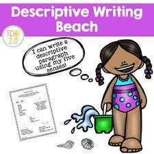 beach descriptive writing paragraph by tchr two point tpt beach descriptive writing paragraph