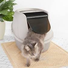 image covered cat litter. Image Is Loading Extra-Large-Cat-Litter-Box-Pan-High-Enclosed- Covered Cat Litter R