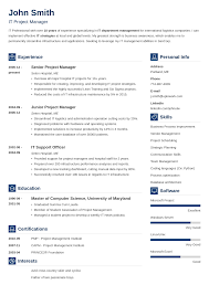 Itsional Resume Template Modern Word Document Rics Senior