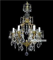 vintage chandelier italian crystal bronze gold gilded antique french red