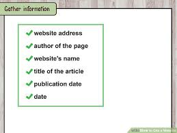how to cite a website sample citations wikihow image titled cite a website step 2