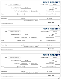 examples of rent receipts rent receipt free rent receipt template for excel