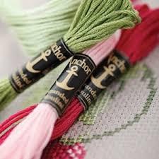 Anchor Cross Stitch Thread Colour Chart Anchor Stranded Cotton