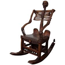 an antique hand carved skeleton rocking chair at 1stdibs wooden cha